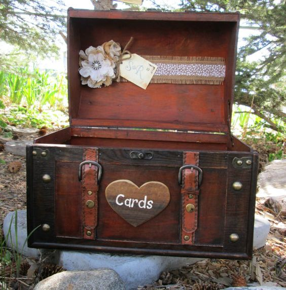 Personalized Wedding Card Box Extra Large Wedding Trunk Barn – Large Wedding Card Box