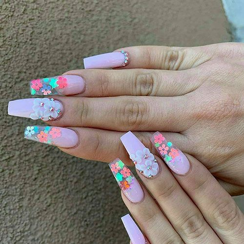 65 Best Coffin Nails Short Long Coffin Shaped Nail Designs For 2020 In 2020 Coffin Shape Nails Coffin Nails Designs Long Nail Designs