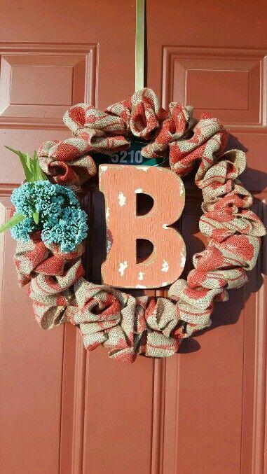 My Easy Burlap Wreath: