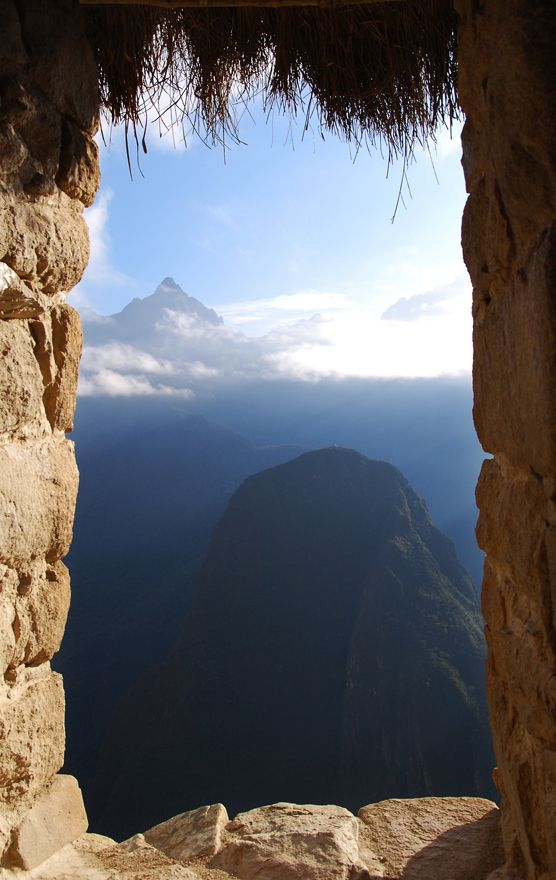 - Machu Picchu, Peru- what a view
