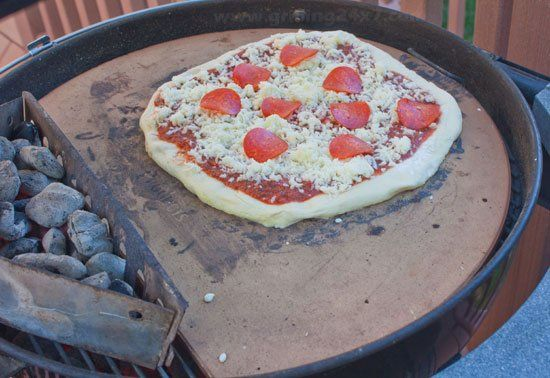 How To Use A Pizza Stone On A Charcoal Grill Grilling 24x7 Pampered Chef Pizza Stone Pizza Stone Cooking Pizza