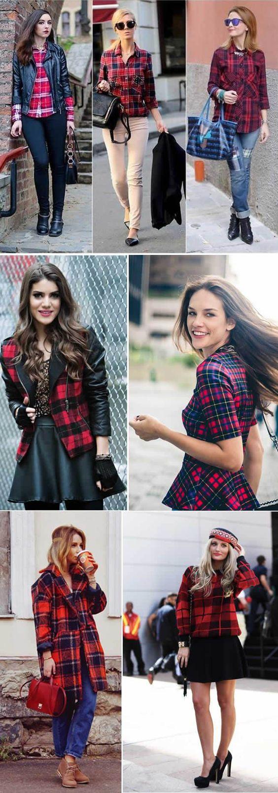 O xadrez vermelho é uma das principais tendências de moda feminina para este inverno, e o xadrez tartan é a maior aposta de padronagem que se destacará nesta temporada. Então Aposte!