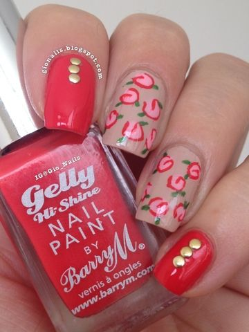 GioNails: Passion Fruit - Barry M + Don't Pretzel My Buttons - O.P.I.