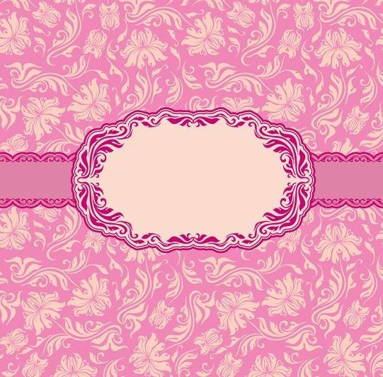 pink vintage backgrounds vintage heraldic imperial frame