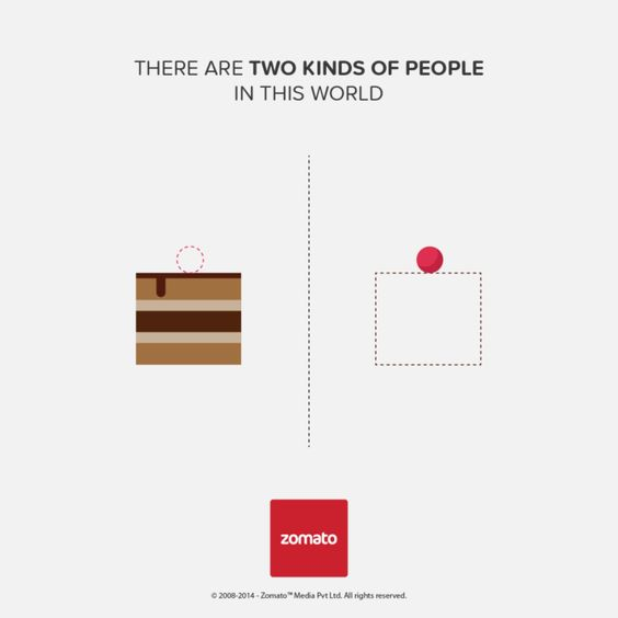 Zomato -  There are two kind of people in this world: BOX