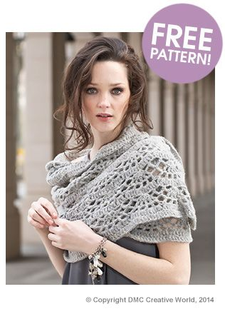 DMC Marquise-Lace Scarf - free pattern @ Deramores