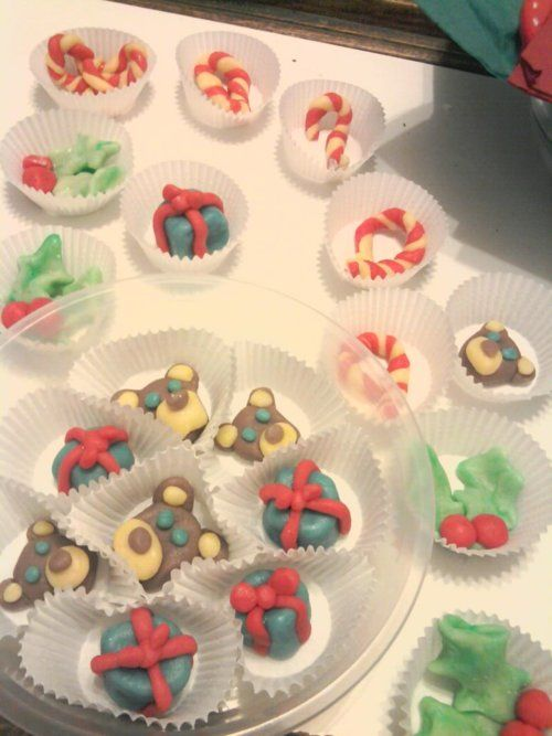 Marzipan Christmas treats from Hook, Line & Sink Her