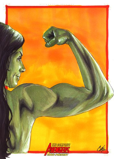 She Hulk by Cat Staggs