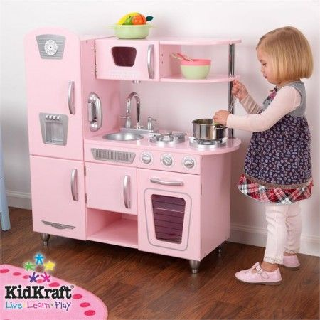 play kitchen for girls | csn stores review: kidkraft pink vintage,