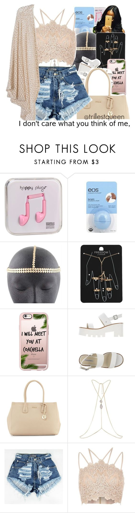 """""""ready for summer 1."""" by trillestqueen ❤ liked on Polyvore featuring Happy Plugs, Eos, Topshop, Casetify, Windsor Smith, Furla and River Island"""