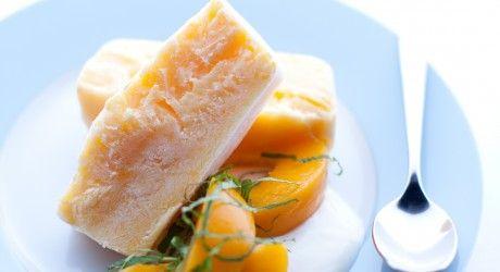 Frozen peach terrine - great dessert!
