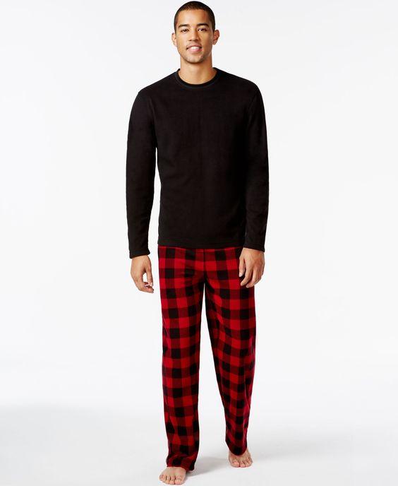 Club Room Men's Fleece Pajama Set | Products | Pinterest | Shops ...