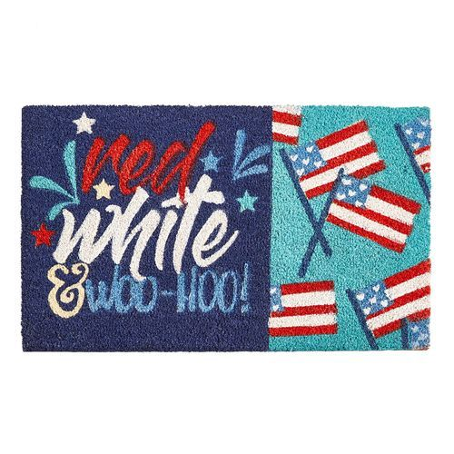 Red, White & Woo-Hoo Doormat