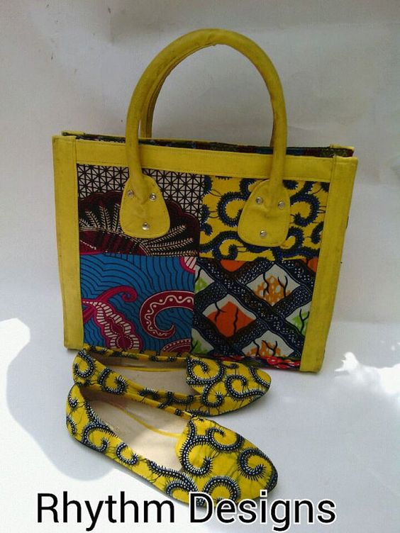 African Print Shoes and Purse. by EJAfricanProducts on Etsy: