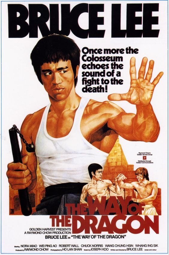 1972 Classic directed by Bruce Lee, with the final showdown at the Colosseum against Chuck Norris