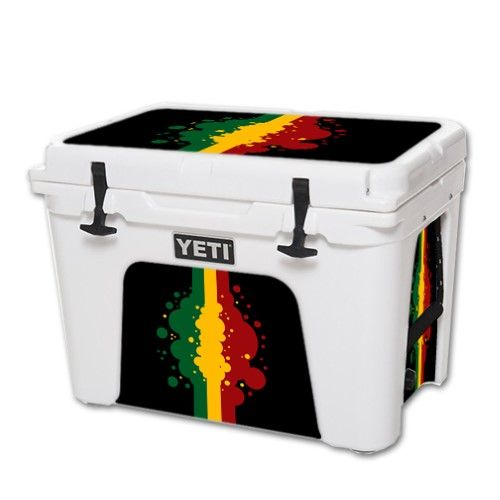 Skin Decal Wrap for Yeti Tundra 50 qt Cooler sticker cover Rasta Flag