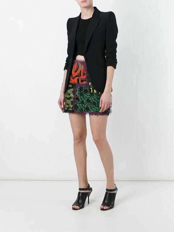 Versace Saia com patchwork