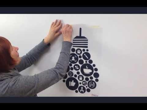 Quadri, carta da parati, adesivi murali: Come Attaccare Un Adesivo Murale Tropparoba How To Apply Wall Stickers Wall Sticker Kids Wall Decals