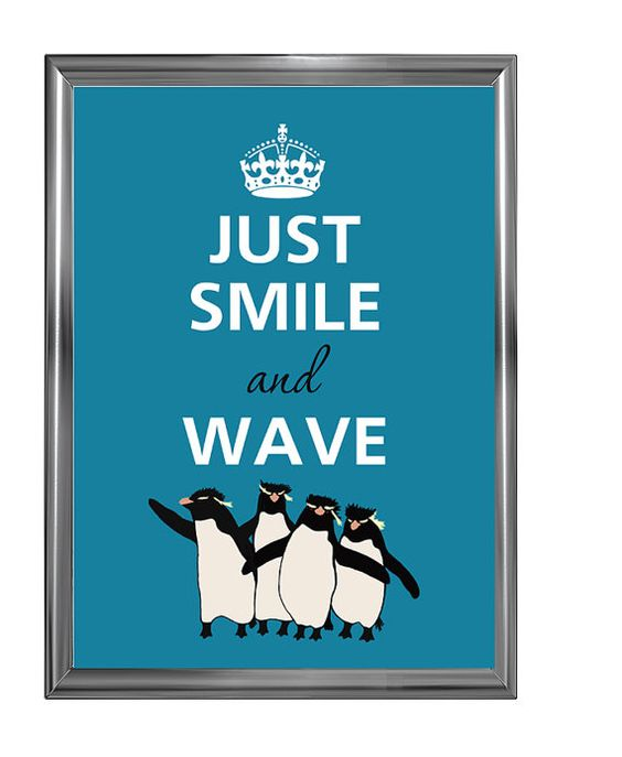 Just smile and wave by Agadart on Etsy, $12.00