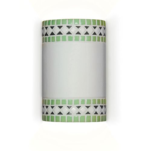 Borders Wall Sconce Mint Green