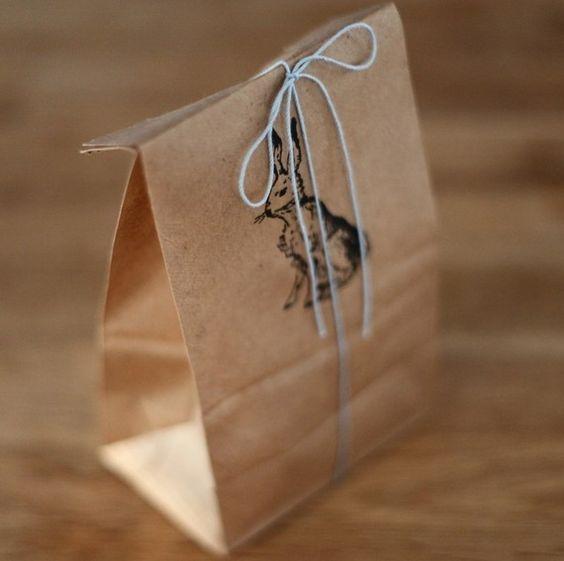 Rabbit on. Paper.