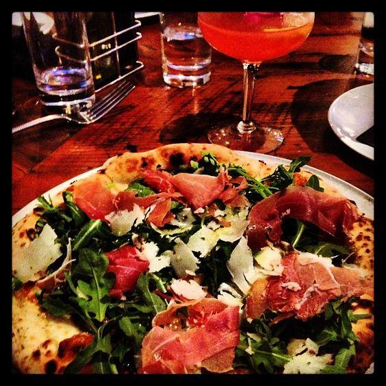 Taken by @jgray3015 on Instagram #TruffleOil #TrufflePecorino #Prosciutto #Pizza #BuildPizzeria #PizzaArtist