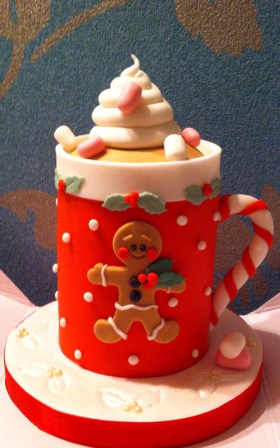 Christmas cake mug