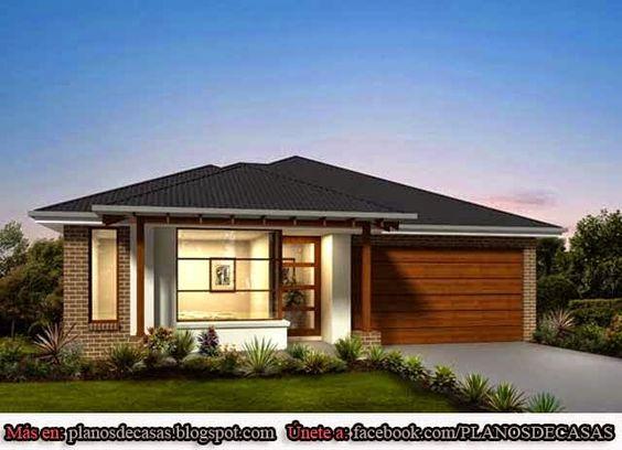 Planos de casas unifamiliares de un piso planos de casas for Fachadas casas unifamiliares
