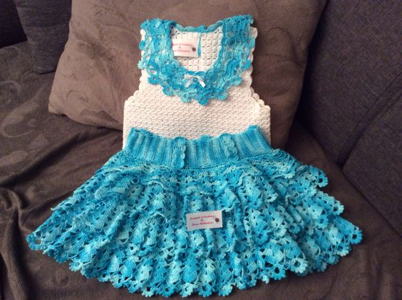 Crochet skirt and blouse size 3: