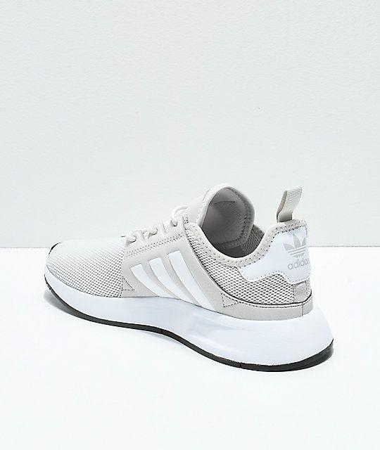 adidas Xplorer Light Grey & White Shoes | White shoes, Shoes
