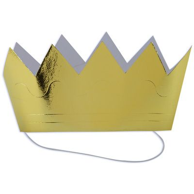 gold paper crowns $3.99/pk..... It only seems right that my Max ...