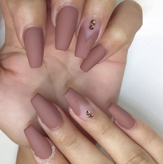 Nude Matte Acrylic Nails