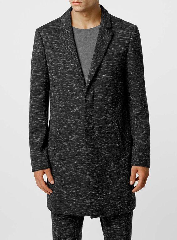 LUX Space Dye Grey Duster Coat
