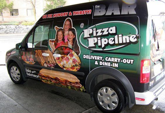 pizza vehicle wrap