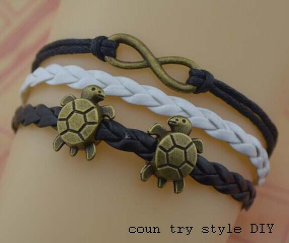 Infinity bracelets tortoise braceletcharm cuff by CountrystyleDIY, $2.59