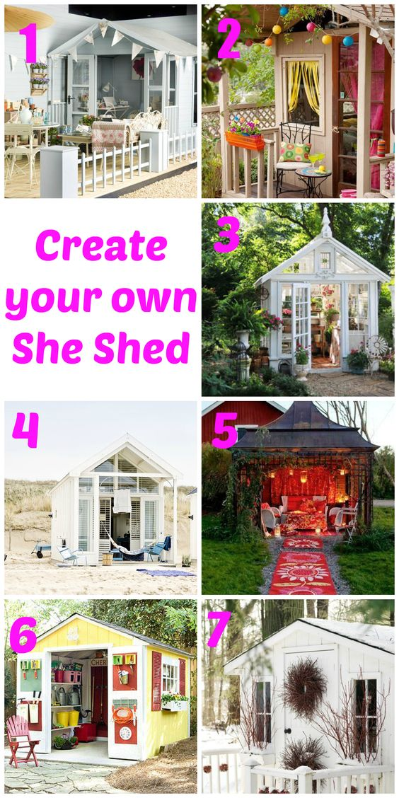Create your own she shed caves sheds and chic for Design your own barn