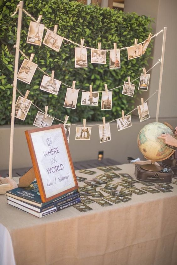 Table from a Vintage Travel Bar Mitzvah Party via Karas Party Ideas ...