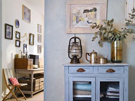 Preciós armari cuina blau