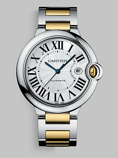 Cartier - Ballon Bleu de Cartier Steel and Yellow Gold Watch on Bracelet, Large - Saks.com