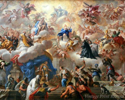 Heaven Mary God Angels 8x10 Print 1161 Triumph of Immaculate by Paolo Matties