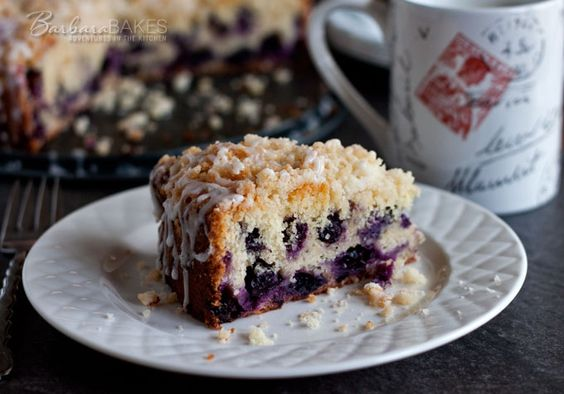 Lemon Blueberry Coffee Cake Recipe Powdered Sugar