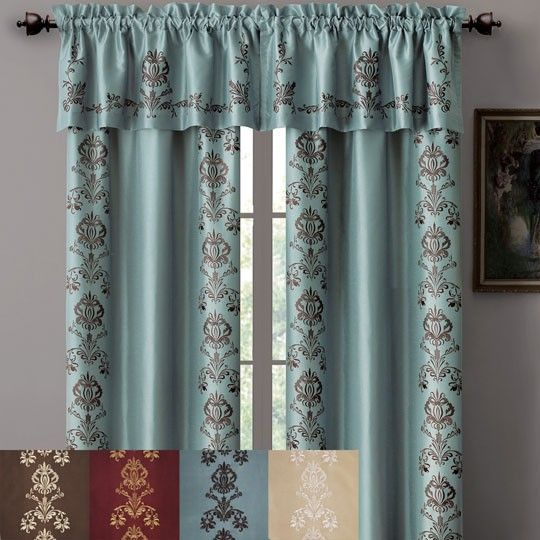 Grandeur Embroidered Lined Panel $30.00 @ Anna's Linens | Home ...