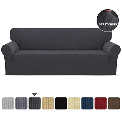 Skarles Stretch Sofa Slipcover 1 Piece Soft Couch Cover Non Slip Washable With Elastic Bottom Protector For Kids Cats Dog In 2020 Couch Covers Slipcovered Sofa Couch