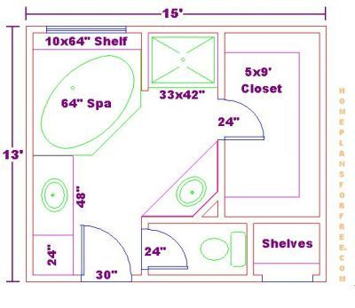 Master Bath Floor Plans On Bathroom Design 13x15 Size Free 13x15 Master Bathroom Floor