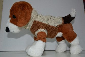 Knitted sweater for very small breeds (Pomeranian, Chihuahua, etc)