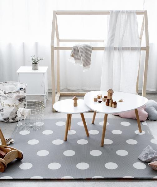 Little Bot Baby Play Mat Polka Dots Space Grey And Little Car Little Bot Inc Cozy Place Baby Play Mat Home Decor