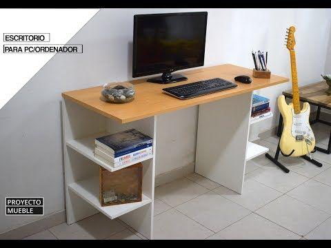 Escritorio De Melamina Facil De Hacer Easy Computer Desk