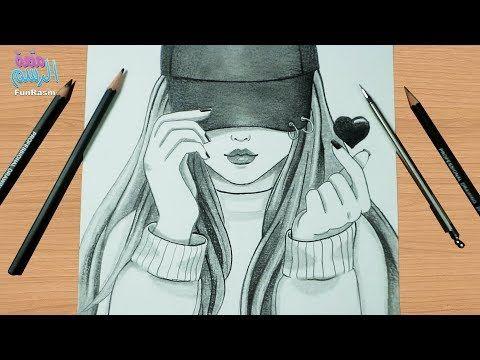 كيفية رسم بنت ترتدي قبعة مع حركة اليد الكورية شرح خطوة بخطوة للمبتدئين Youtube Female Sketch Male Sketch Art