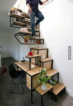Awesome idea and dessign. But imagine trying to get up or down while drunk