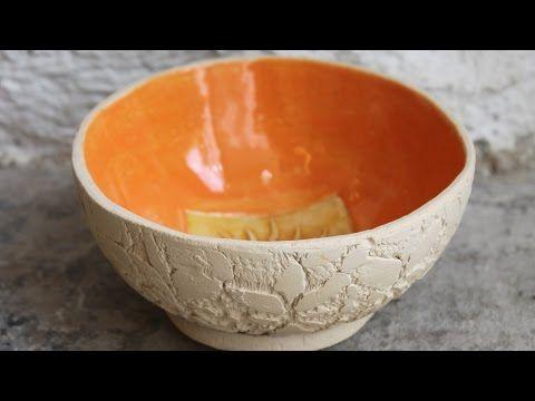 Keramik Teeschale glasieren - YouTube